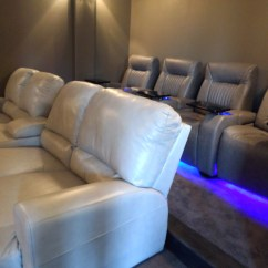 Home Theater Leather Sofa Milano 4 Piece Rattan Set Palliser Seating With Media Gorgeous Room
