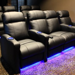 Home Theater Chair Covers Ergonomic Large Person Chairs With Built In Riser And Led Kit Mccabe 39s