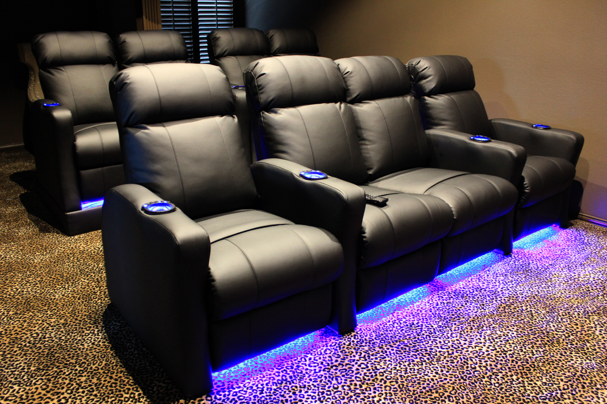 movie theaters with lounge chairs chair cushion cover theater built in riser and led kit mccabe 39s