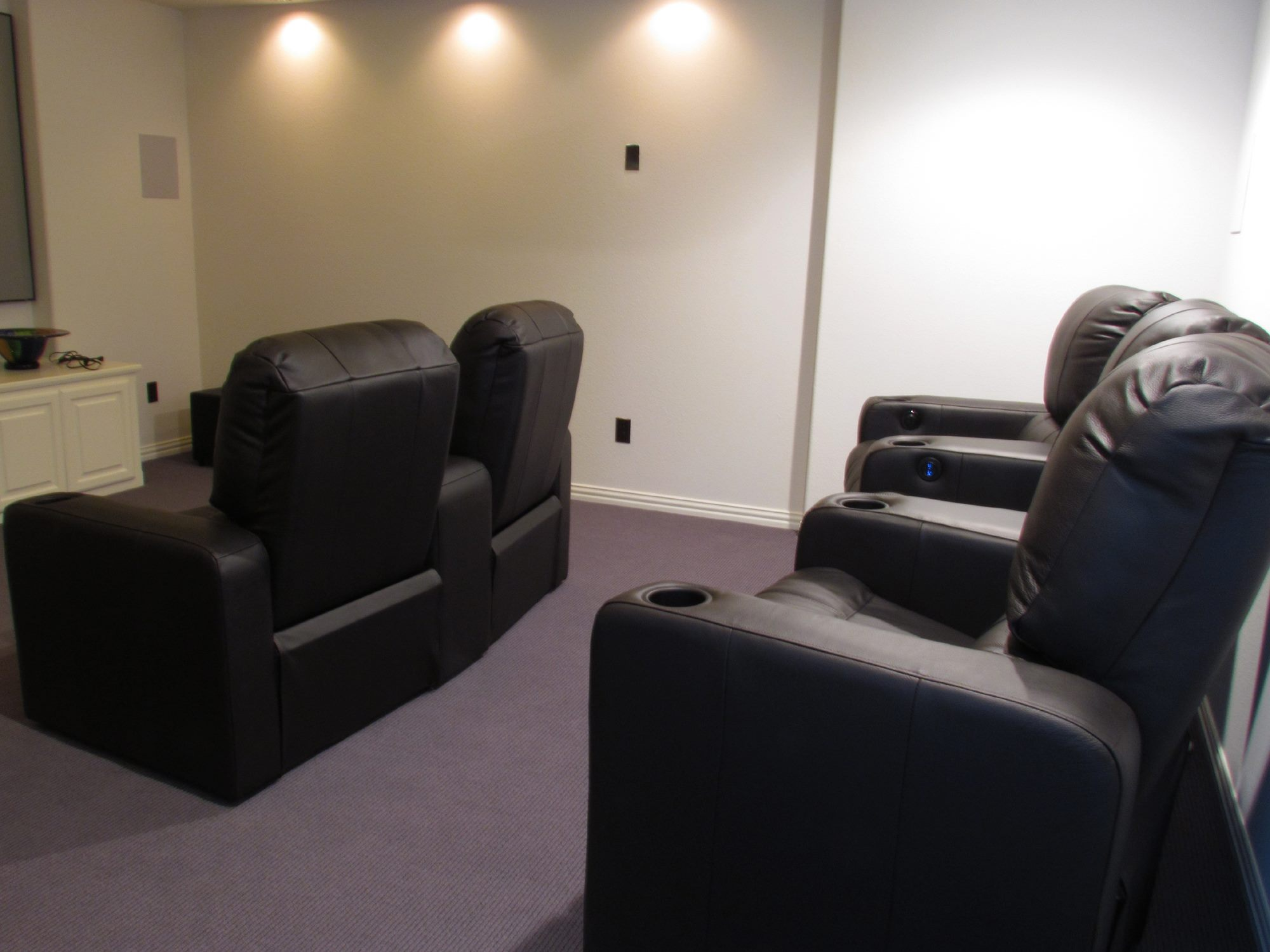 home theater chair covers kohls high built in risers custom chairs mccabe 39s