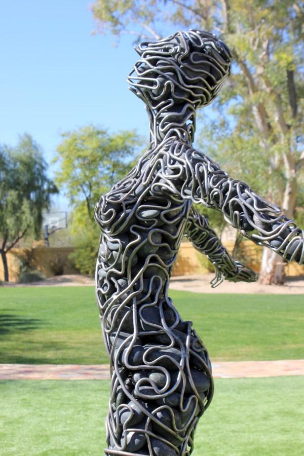 Metal Art Sculpture Woman
