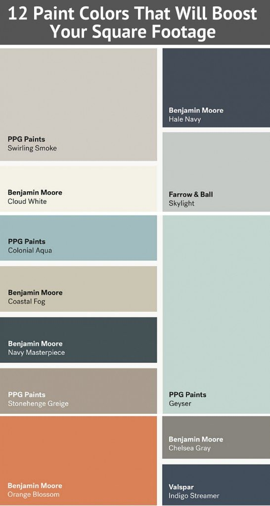 12 Paint Colors That Will Boost Your Square Footage