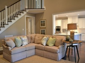 Knoxville Custom Home Living Space