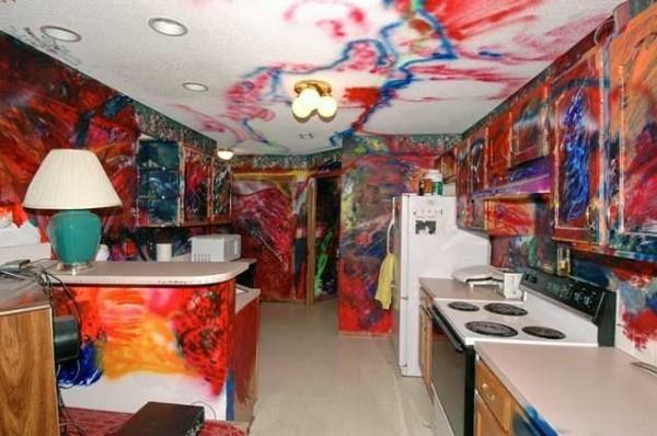 tie dye kitchen