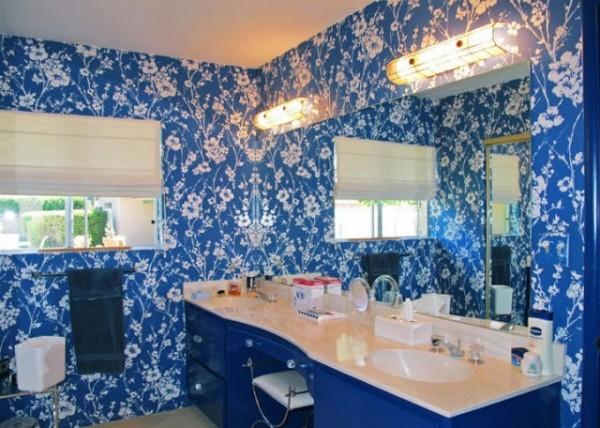 blue tacky bathroom