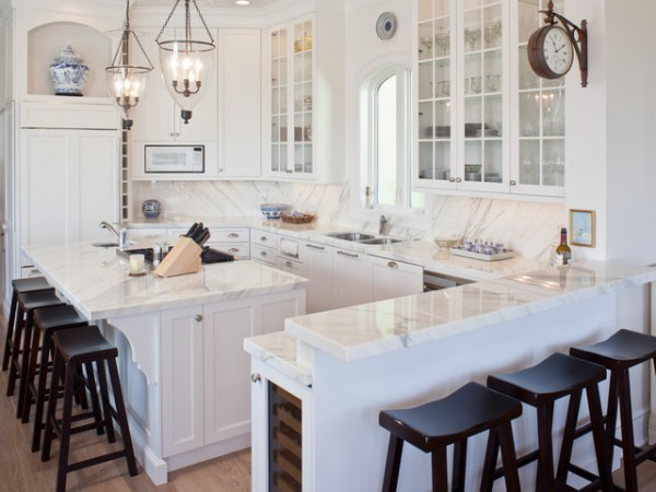White will leave your kitchen will looking clean and fresh
