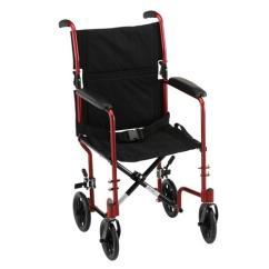 Transport Wheelchair Nova Chair Mats For Carpet 17 Lightweight With Fixed Arms Mccann S Medical