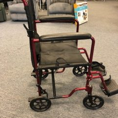 Transport Wheelchair Nova Back Support For Office Chair Staples 329 Red 1 Mccann S Medical