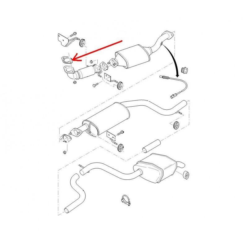 Uszczelka układu wydechowego przód Mondeo Mk3 Bosal 256-651