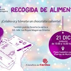 El Grupo municipal MC te invita a colaborar en la recogida solidaria de alimentos a beneficio de Cáritas