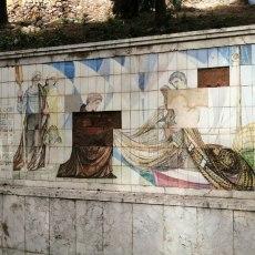MC Cartagena y Unidas Podemos IU Equo exigirán que se frene el deterioro que sufre el mosaico de Ramón Alonso Luzzy en el Parque Torres