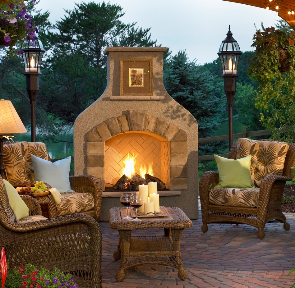 outdoor fireplace  mccarthyfamilyvacations
