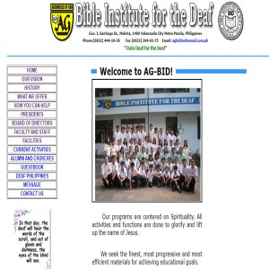 Bible Institute for the Deaf Website