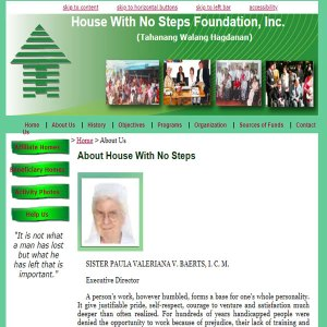 House With No Steps Foundation Website
