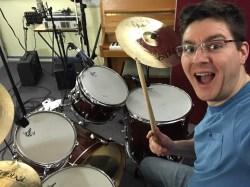 Drum kit selfie!