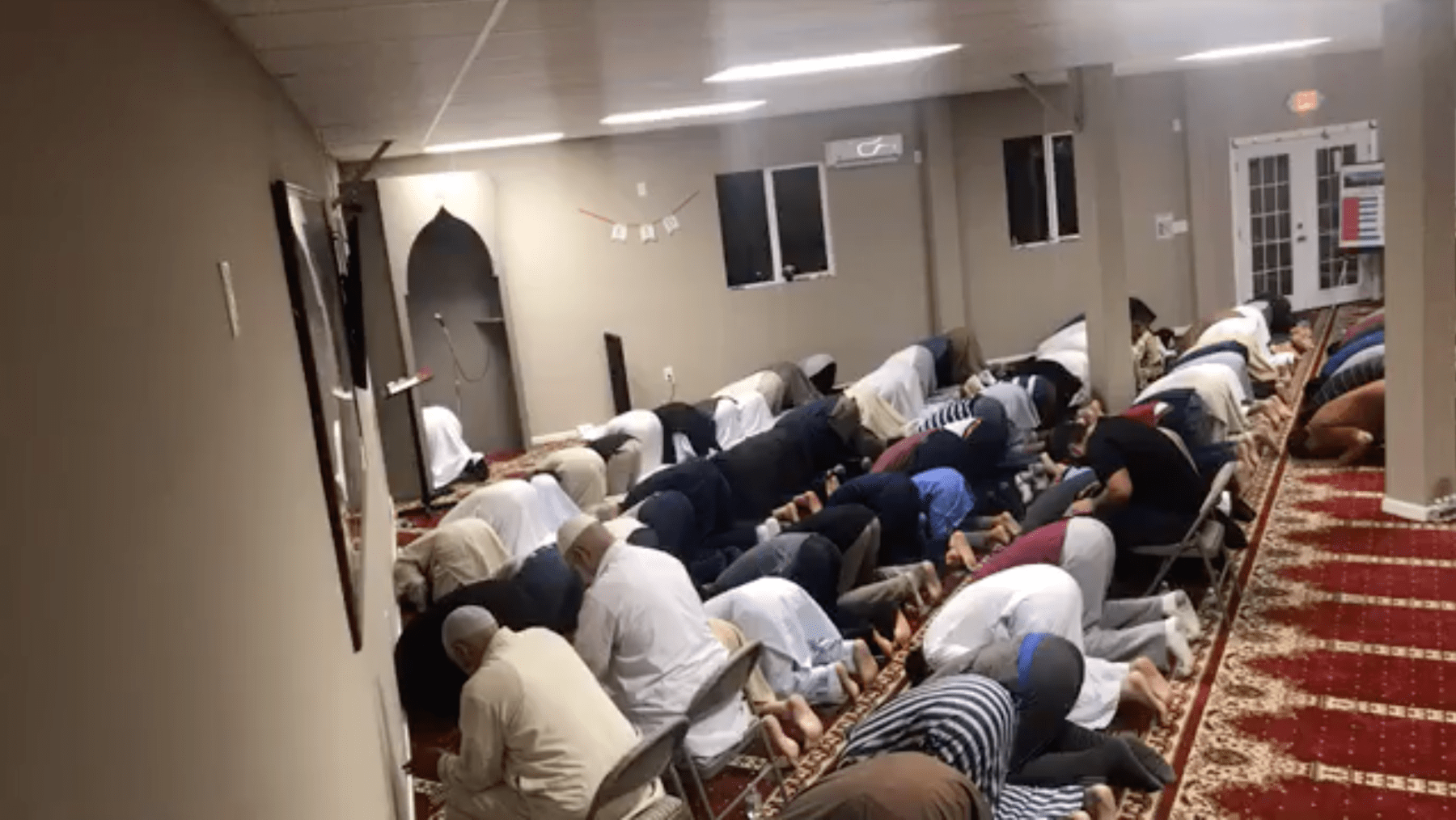 MCCL Masjid praying