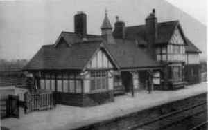"Saughall Station. From the book, ""Saughall: A Social History,"" by Anne Stuart."