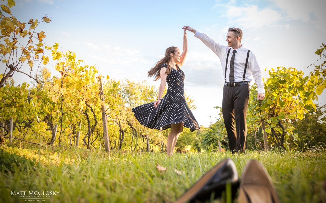 Emma and Rob's Altamont Vineyard Engagement