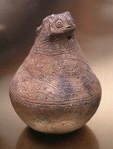 Owl Effigy Ceramic Bottle