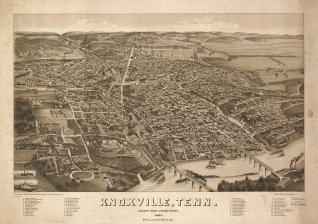 Bird's Eye View of the City of Knoxville map