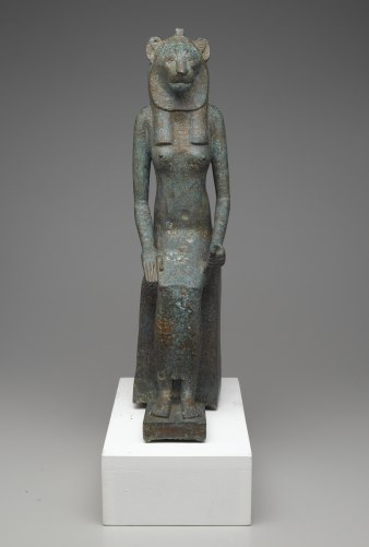 Seated Wadjet, 664-­332 B.C.E., Bronze, Brooklyn Museum, Charles Edwin Wilbour Fund, 36.622.