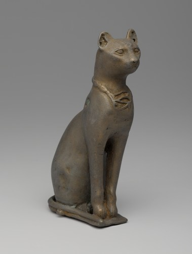Statuette of a Cat, 332-­30 B.C.E., Bronze, Brooklyn Museum, Charles Edwin Wilbour Fund, 37.427E.