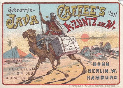 Java Coffee Trade Card