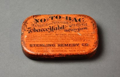 No-To-Bac Tin,1880 Sterling Remedy Co.,Museum purchase.
