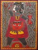 Baua Devi, Shiva, 2008, Acrylic on canvas, Courtesy of BINDU Modern Gallery, Photo credit: Sneha Ganguly.