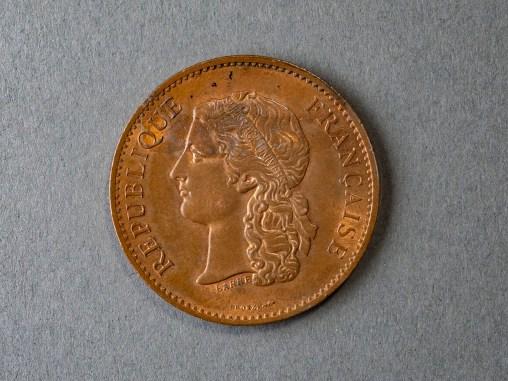 Commemorative medal, 1889, Albert-Désiré Barre (French, 1818-1878), Bronze, Louis B. and Eleanor Deane Swan Audigier, 1934.1.708.