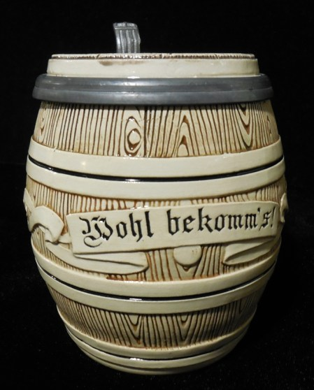 Beer stein, c. 1864, Johann Wilhelm Remy, Höhr-Grenzhausen, Rhineland Palatinate, Germany, Earthenware, Gift of Louis B. and Eleanor Deane Swan Audigier, 1934.1.748.