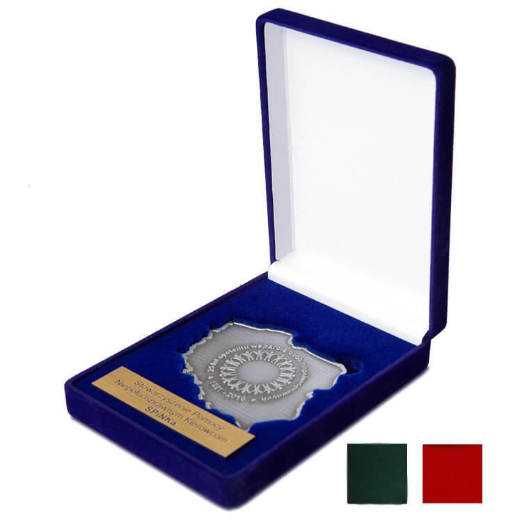 Etui na nieregularny medal