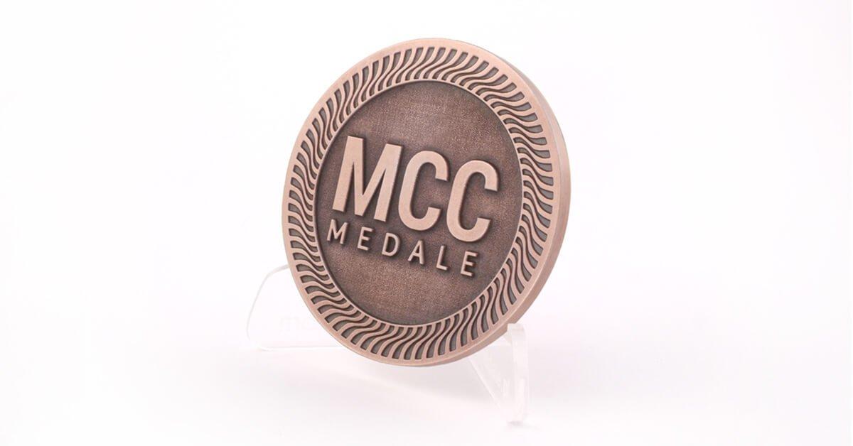 Miedź antyczna, czyli patynowana miedź - kolor odlewów dostępny w MCC Medale