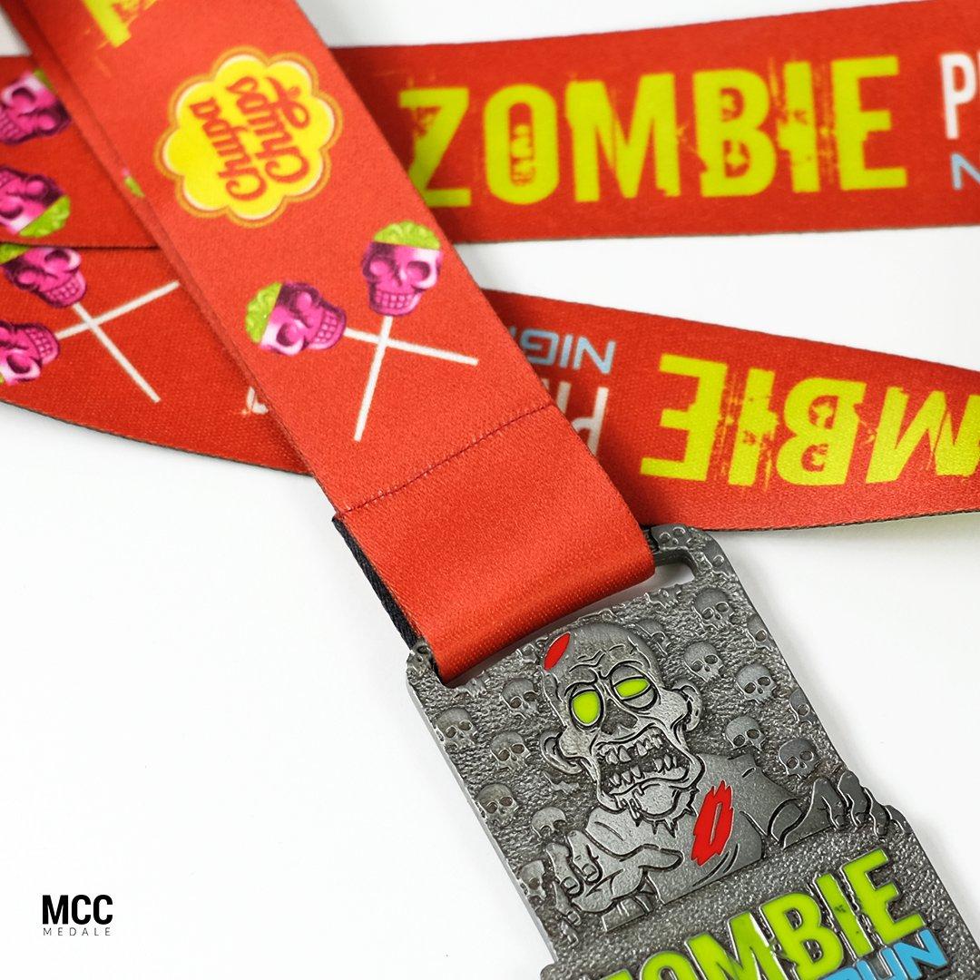 Szycie medali sportowych - przykład