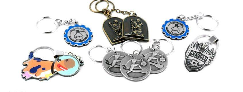 Brelok metalowy z logo na zamówienie