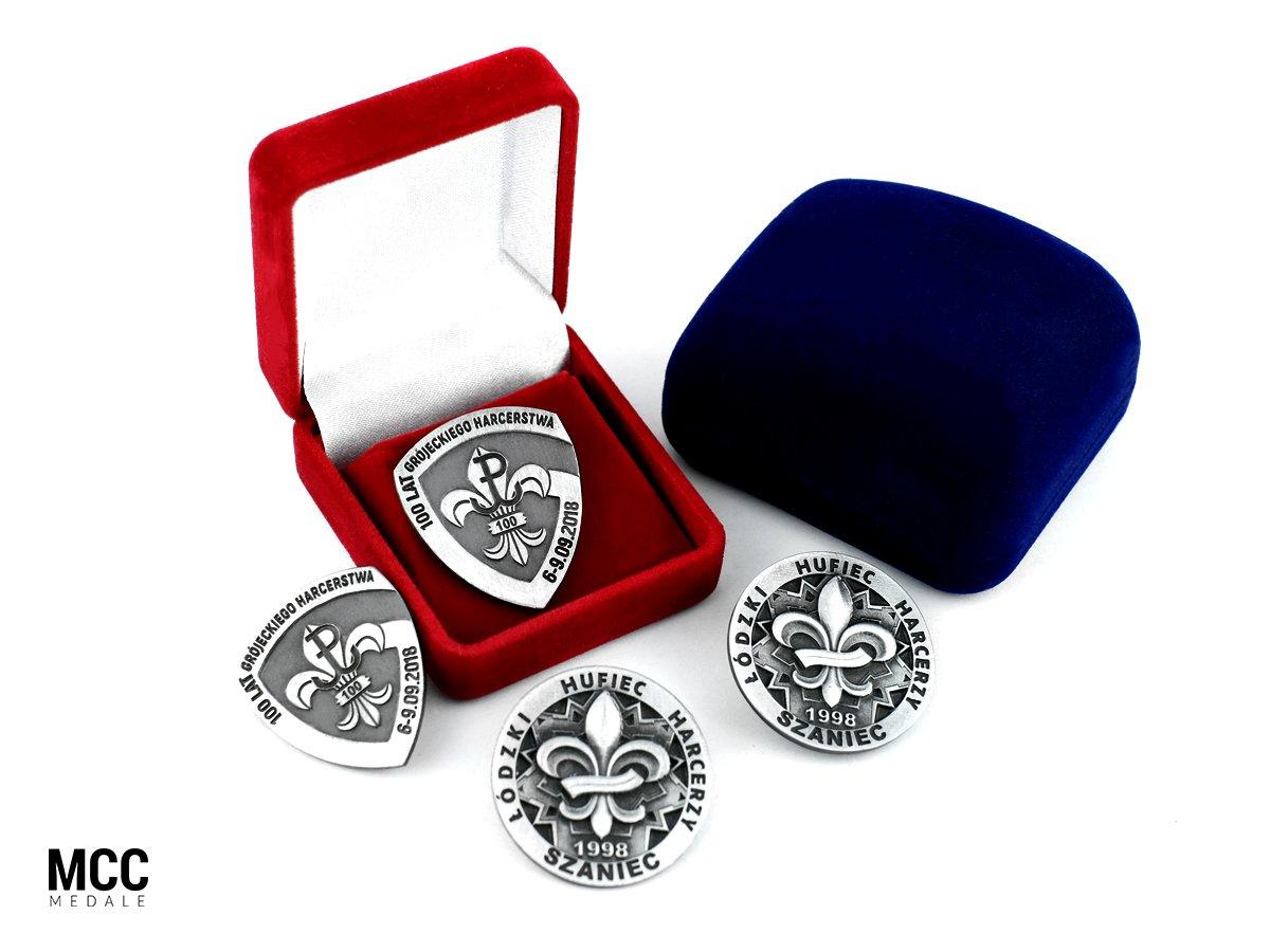 Odznaczenia harcerskie na zamówienie wykonane przez MCC Medale