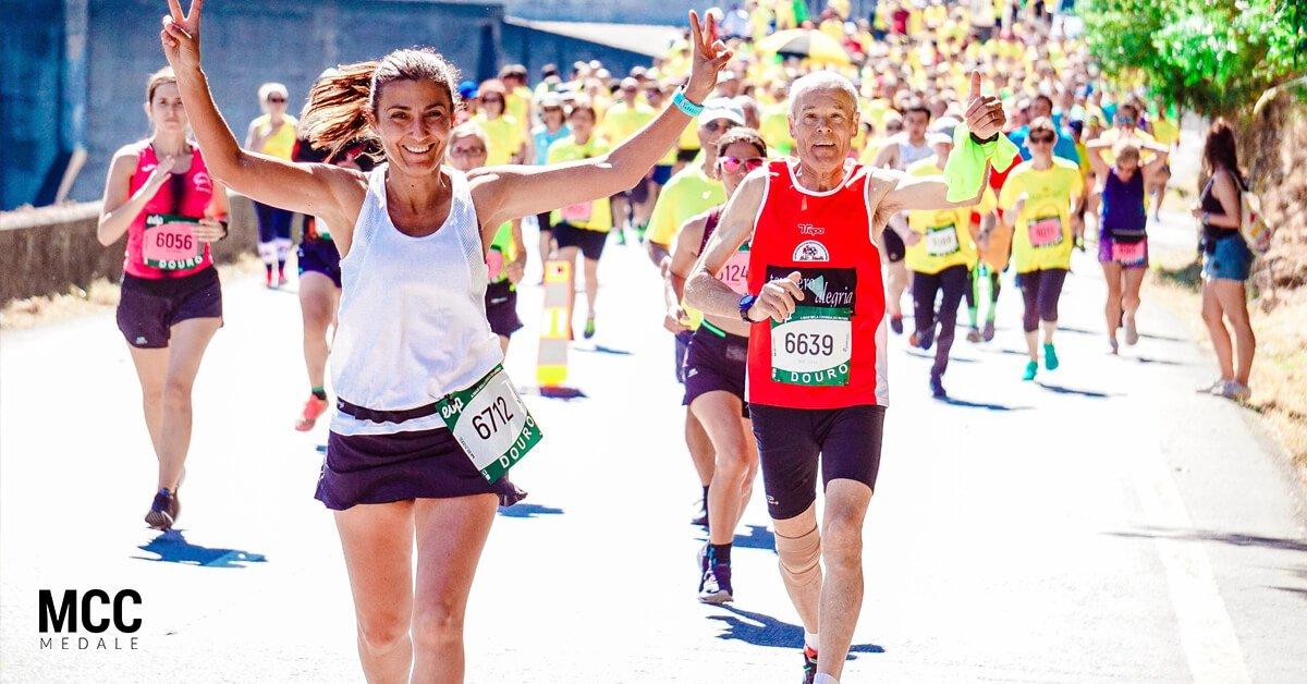 Efekty jakie wywołuje bieganie to radość i przejawiający ją uśmiech