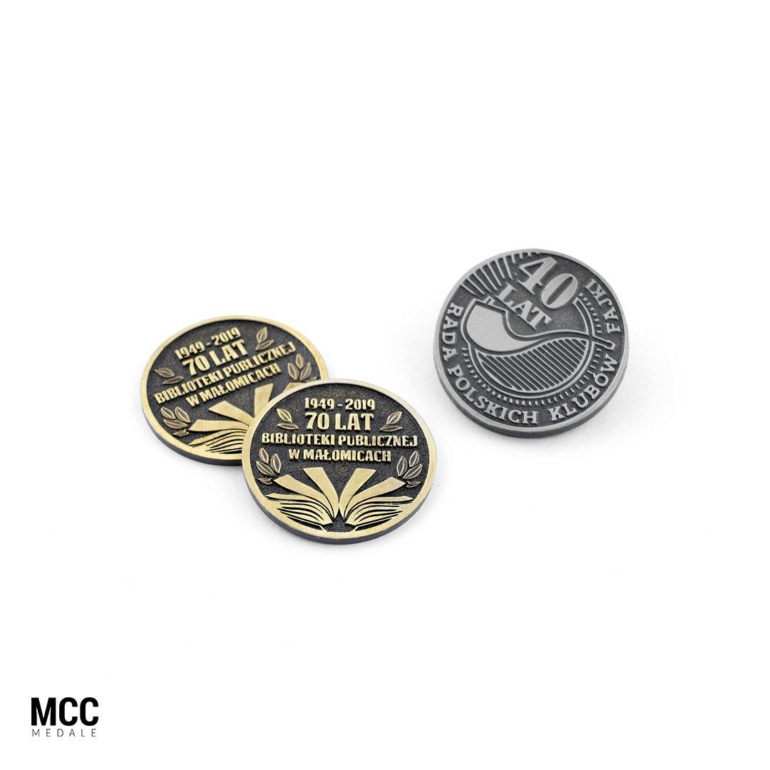 Monety na jubileusz od producenta - firmy MCC Medale