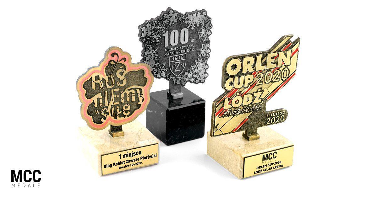 Statuetki metalowe na zamówienie wyprodukowane przez MCC Medale