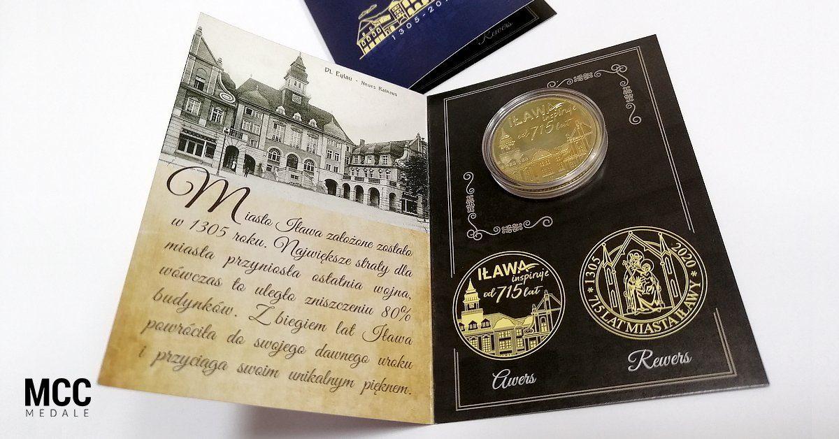 Monety okazjonalne w eleganckim kapslu z karteczką wykonane przez MCC Medale