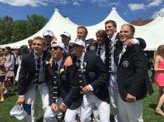 Mc Nobles graduation cigars with the guys