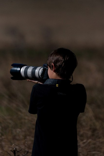 Mc with camera in bush 2