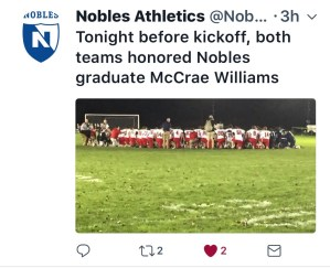 Nobles Football Tribute