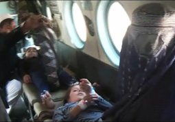 FLYING VICTIM FOR HOSPITAL CARE
