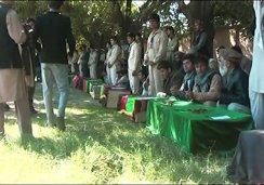 FUNERAL FOR 12 SCHOOL GIRLS WHO DIED IN BIBI HAJERA SCHOOL ROOF COLLAPSE IN TALUQAN, TAKHAR