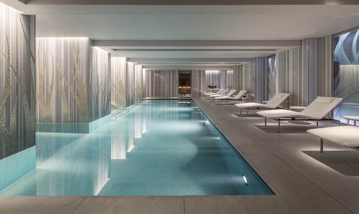 The Spa Four Seasons Hotel Ten Trinity Square  McCue  Crafted Fit  Bespoke Interior