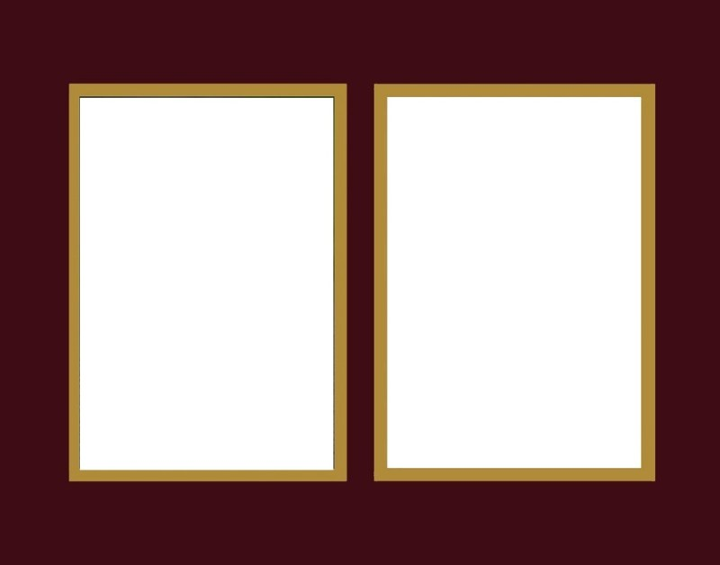 Burgundy over Gold Mat Color