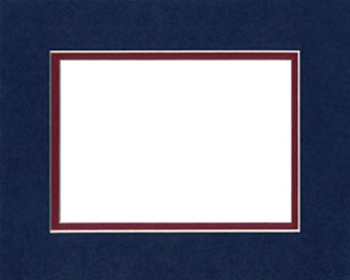 Navy Blue over Burgundy S.O. Mat