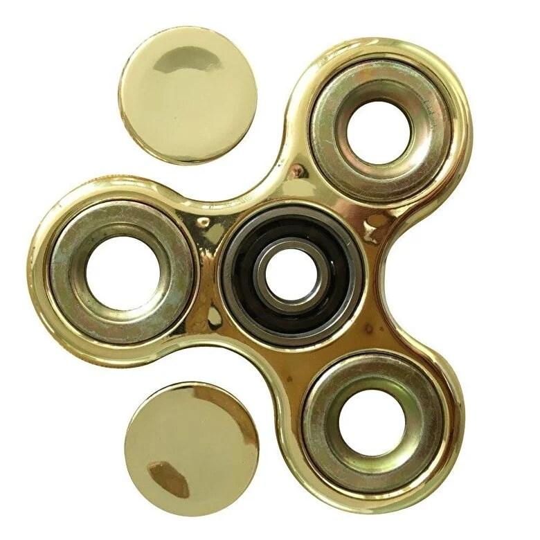 Fidget Spinner - Fidget Spinner cromat, auriu -