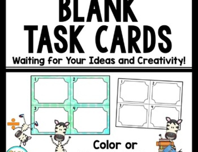 Blank Task Cards - Make Your Own!
